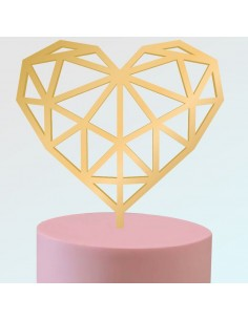 Topper corazón geométrico