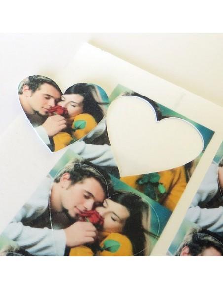 20 corazones papel azúcar de 4,5 cm. Impresos