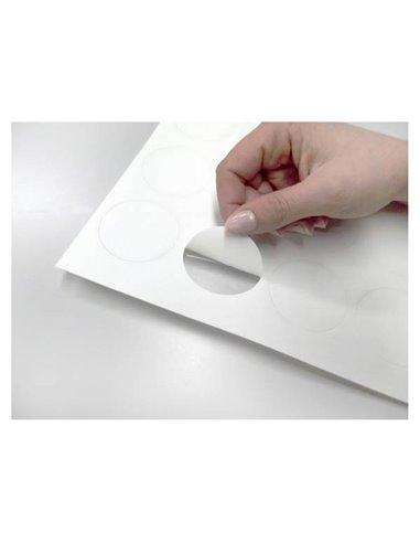 20 círculos papel azúcar 4,5 cm. Cortados e Impresos