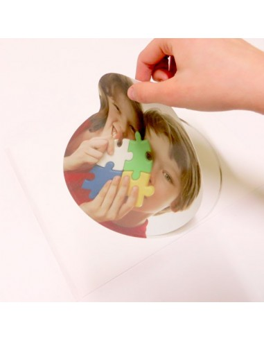 Círculo de 20 cm. papel de azúcar impreso