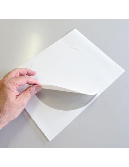 Papel de azúcar A4 precortado en 1 circulo de 20 cm.