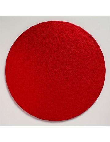 Base redonda roja gruesa 25 cm