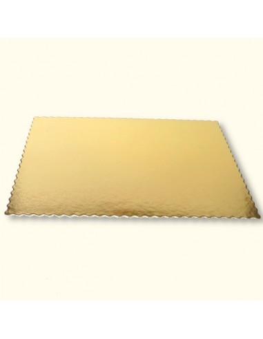 Bases Cartón Oro Rectangulares 30x40 cm.