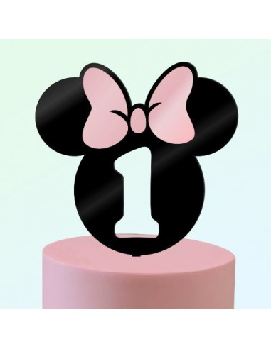 Topper Bicolor Minnie Años con Lazo