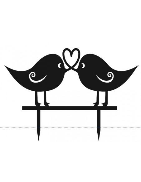 Topper pájaros enamorados