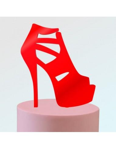 Topper zapato plataforma calado