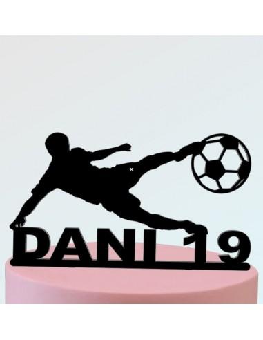 Topper futbolista personalizado