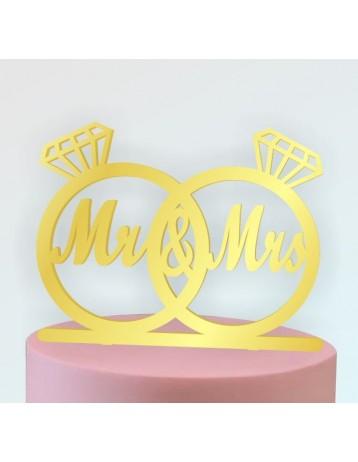 Topper Mr. & Mrs. anillos