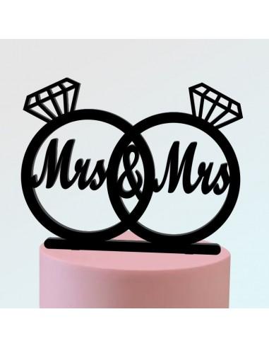 Topper Mrs. & Mrs. anillos