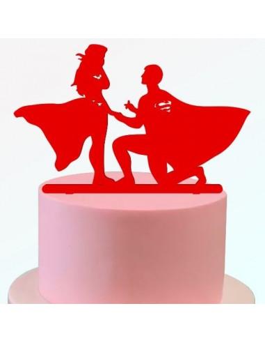 Topper boda superheroes